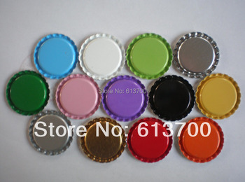 One-Side Colored Flatten Bottle Caps for jewelry Making Metal Tinplate BottleCaps for 1 inch Domes