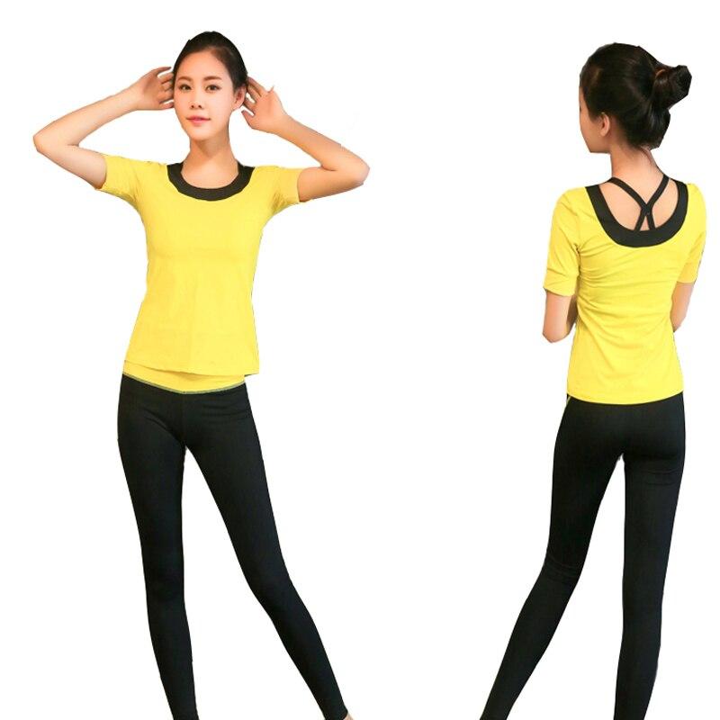 Yoga Set di Tre Pezzi di Usura Delle Donne di Sport Per Le Donne Leggings di Fitness Corsa e Jogging Donna Traspirante Esercizio Vestito di Sport Outdoor - 6