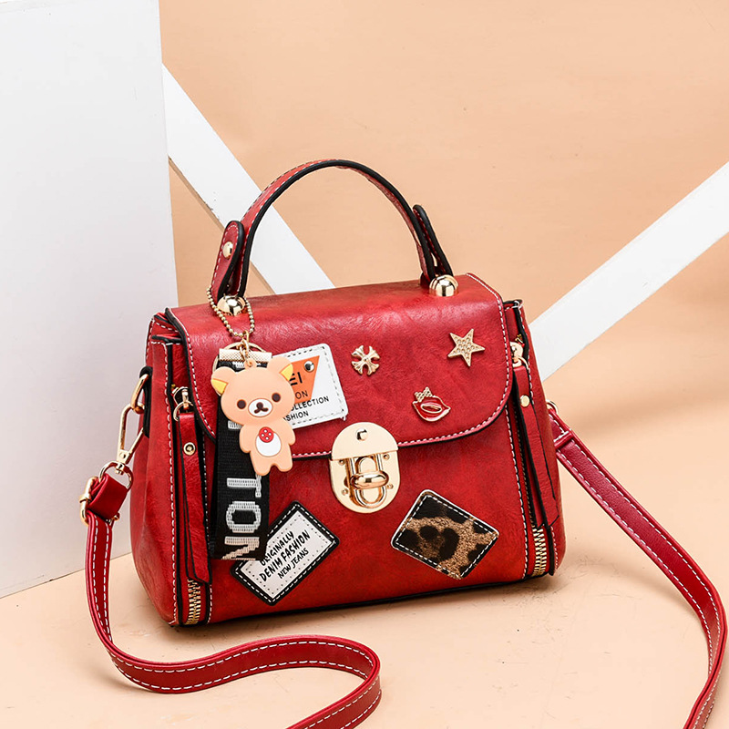 2019 Women's PU leather Messenger Bags Small Square Pack Crossbody Bag Shoulder Luxury Wallet Handbags Women Bags Designer(China)