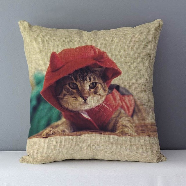 Cute Cat Printed Pillowcase / Cushion case