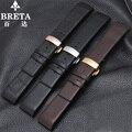 Высокого класса часы с аксессуары butterfly пряжка 22 ММ черный коричневый адаптер K2K21402 K2K21620 локоть кожаный ремешок + инструмент