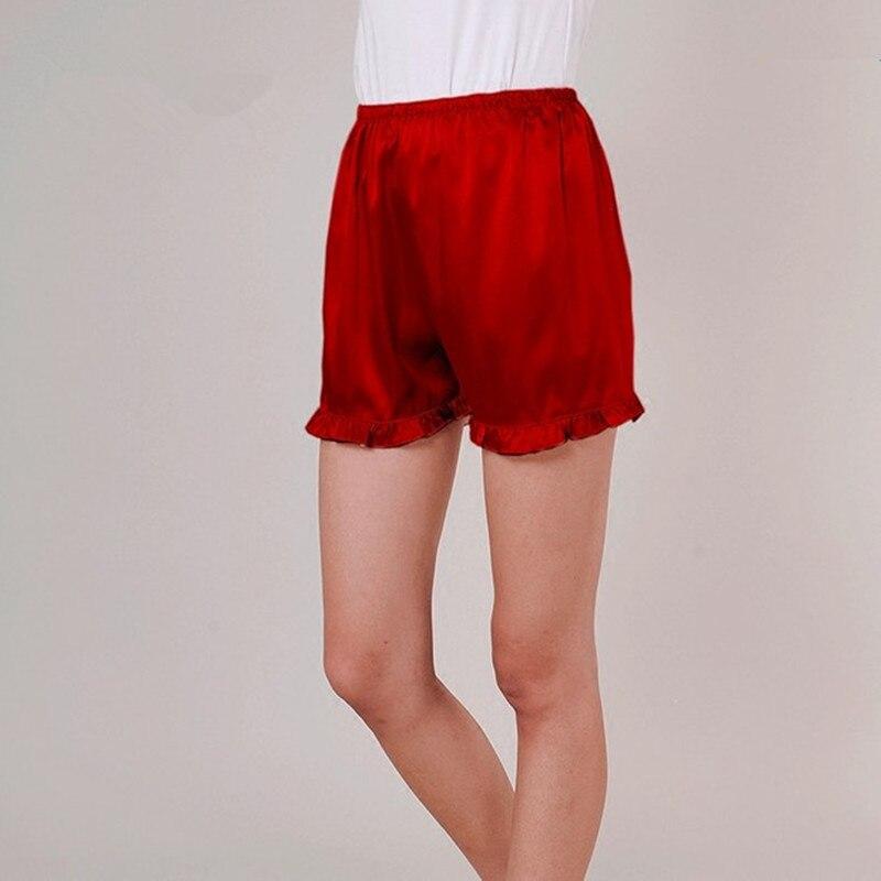 Женские шелковые шорты, пижамные штаны, женские брюки для отдыха, короткие летние