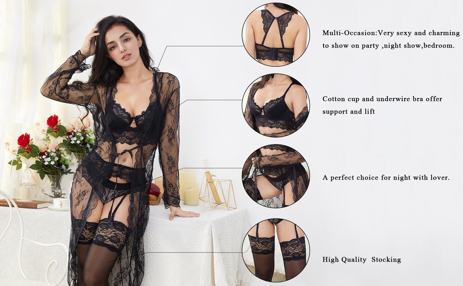 7 Piece Lace Underwear Set lingerie