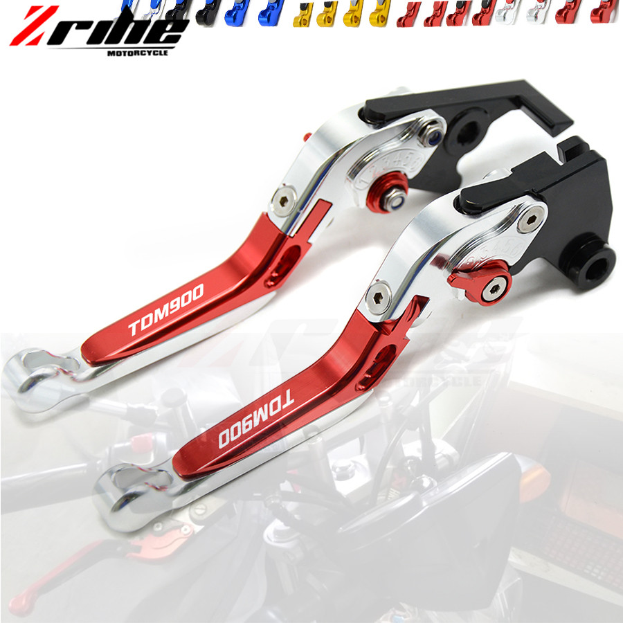 For YAMAHA TDM 900 TDM900 2014-2012 Motorcycle Accessories Adjustable Folding Extendable Brake Clutch Levers 2013 12 13 14