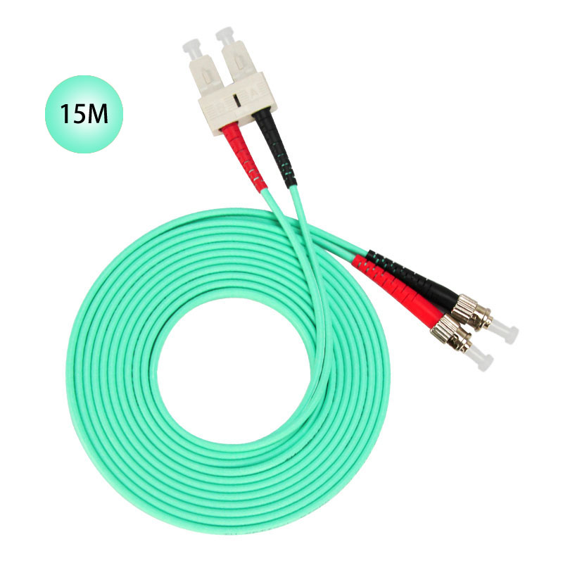 SC to ST 10GB Laser Optimized Multimode Fiber Patch Cable - OM3 - 15 Meter Free Shipping