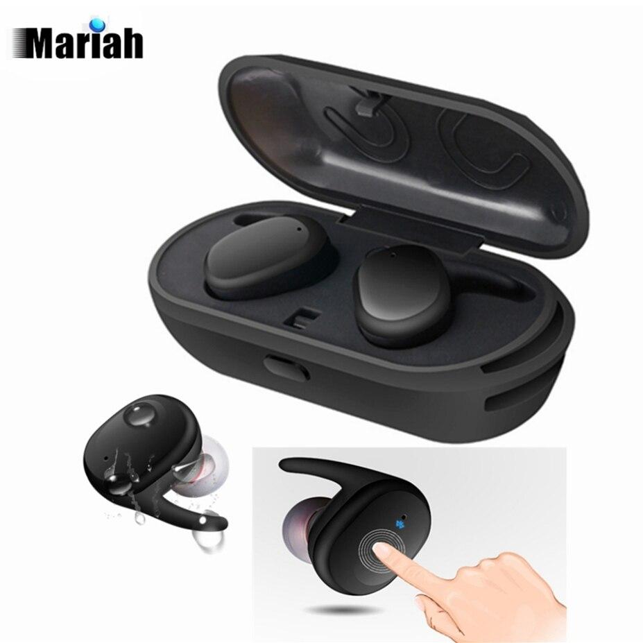 bilder für Twins Drahtlose Bluetooth Kopfhörer Wasserdicht headset in-ear-ohrhörer Sport Kopfhörer Mini Ohrhörer mit micphone für iphone 7
