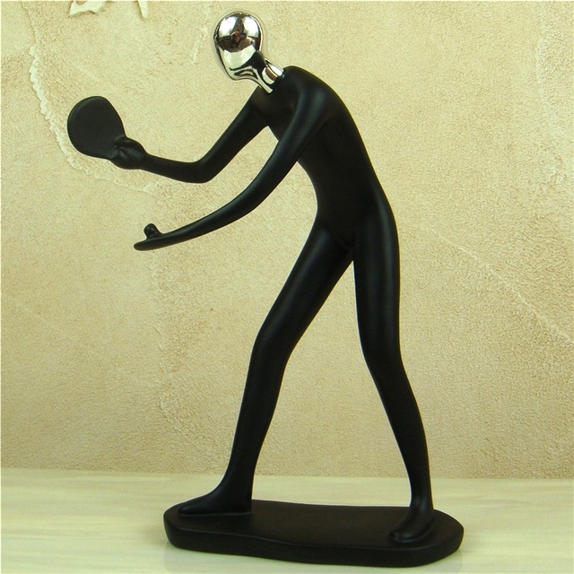 Abstract Sportsman Figurine Electroplated Resin Athlete Figure Miniature Competition Sport Souvenir  5