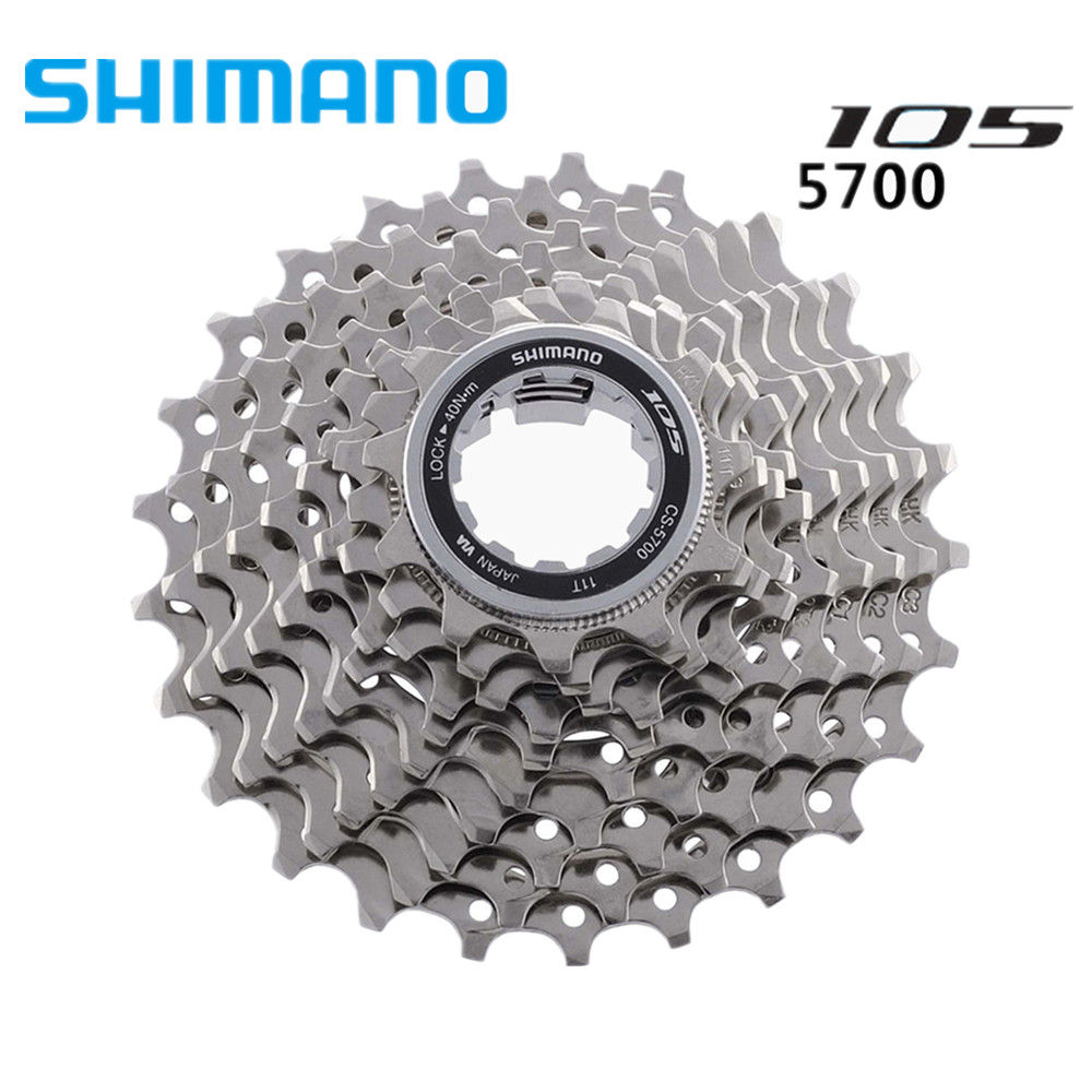 Shimano 105 CS-5700 10 SPD Speed 11-25T HG Cassette Sprocket Road Bike 5700Cycling Bicycle cassette 11-25 / 11-28