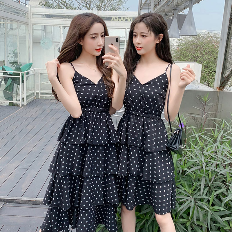 Casual Long Summer Dress Women Sexy Sleeveless Elegant Office Chiffon Cake For Street