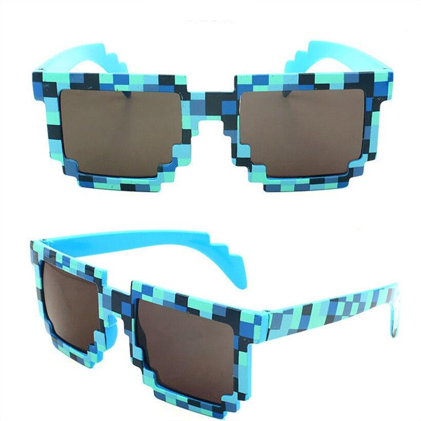Deal with it font b Minecraft b font Glasses 8 bit Pixel Women Men Sunglasses Female