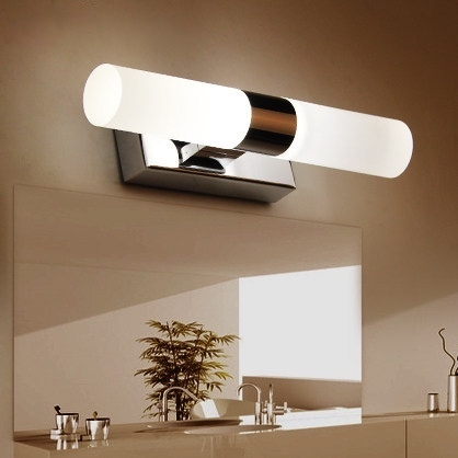 Simple makeup mirror light led wall mirror light warm white ...