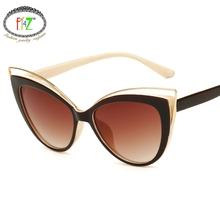 цена на F.J4Z New Hot Vintage Brand Designer Cool Sexy Cat Eye High Quality Sunglasses For Women Out Door Accessories UV400
