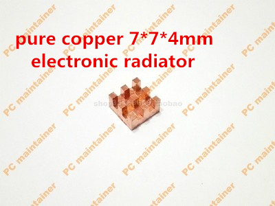 10pcs/lot Ultra small gvoove pure copper pure for Ram memory IC chip heat sink 7*7*4mm electronic radiator 3M468MP Thermal 5pcs lot pure copper broken groove memory mos radiator fin raspberry pi chip notebook radiator 14 14 4 0mm copper heatsink
