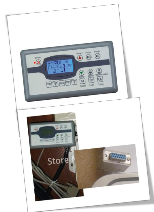 China hot tub spa bathtub MONALISA MN07D1 topside control keypad ONLY
