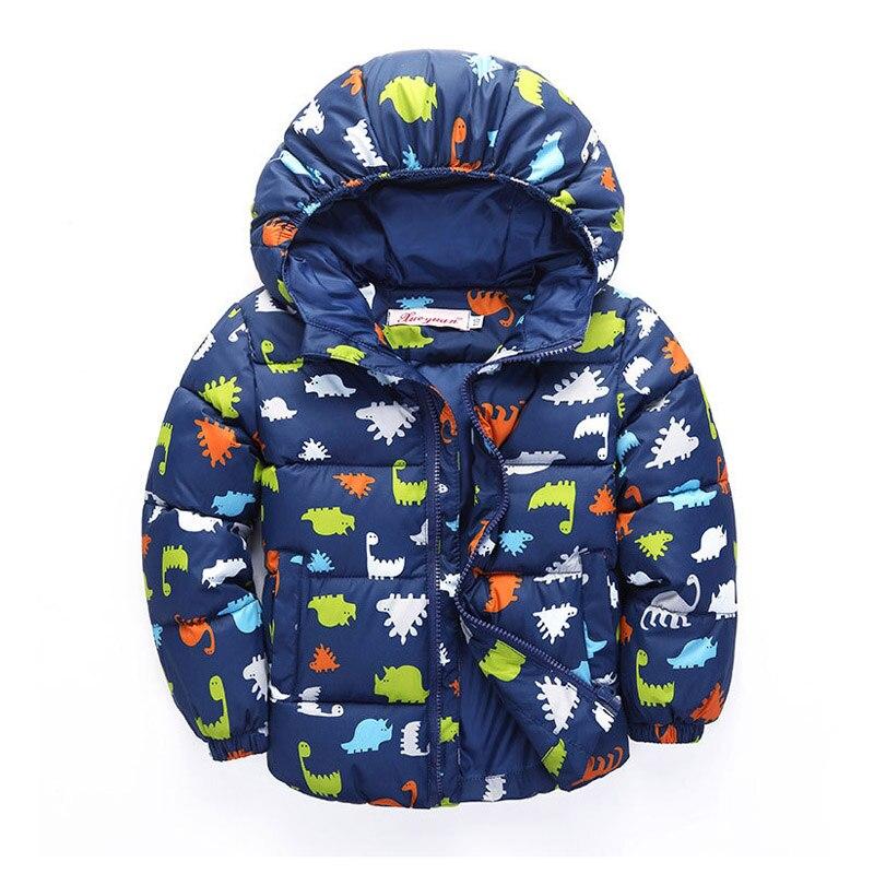 100 140CM Cute Dinosaur Winter Jacket Kids font b Boys b font Outerwear font b Coats
