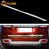 Zlord Car Rear Bumper Trim Car Back Bumper Decoration Sticker Fit for Ford Everest 2015 2018 Accessories Stainless Steel