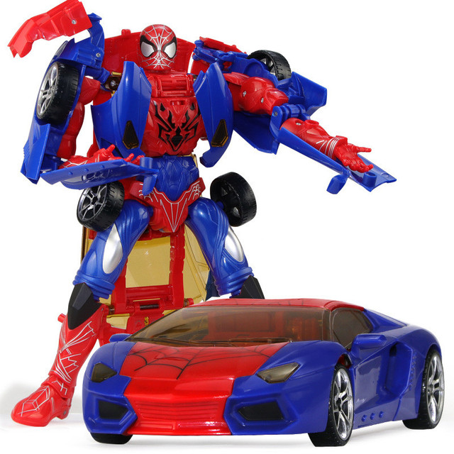 26 cm 높이 변형 변형 영웅 로봇 장난감 거미 모델 액션 피규어 완구