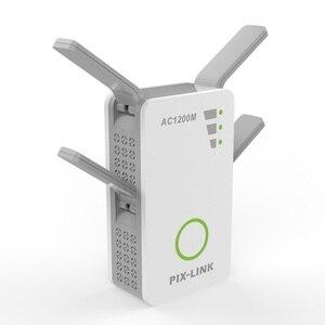 Image 1 - 新 2.4/5 GHz 無線 Lan リピータブースターデュアルバンド AC 1200 150mbps エクステンダールータワイヤレスアンプと WPS 4 高利得アンテナ