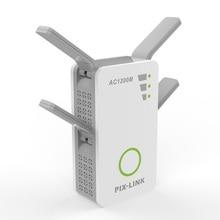 Neue 2,4 GHz/5 GHz WiFi Repeater Booster Dual Band AC 1200Mbps Extender Router Wireless Verstärker WPS Mit 4 High Gain Antennen