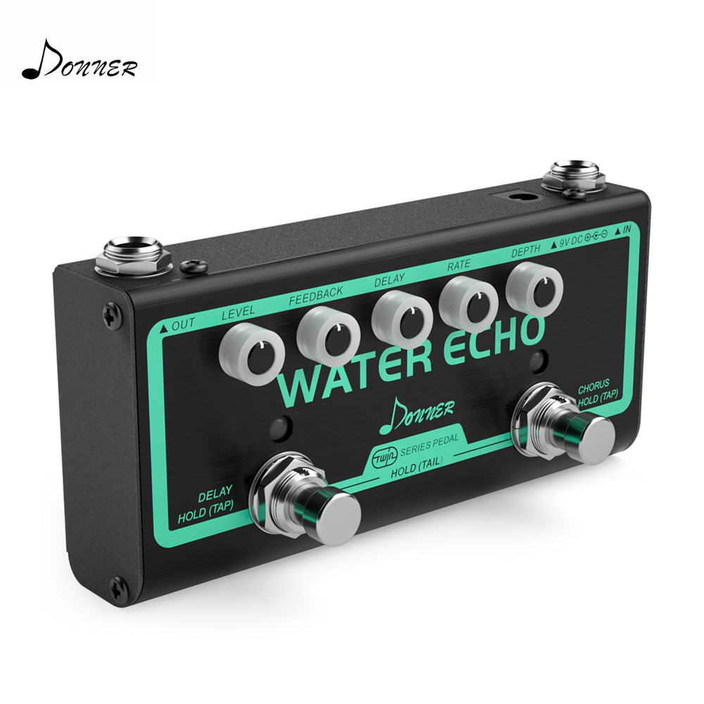 Donner Water Echo Guitar Effect Pedal 2 in 1 Chorus and Delay Effect Pedal Electic Guitar