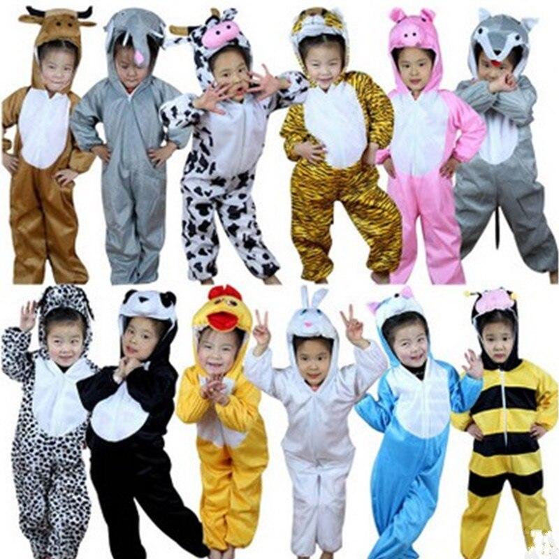 Christmas Gift Kids Children Cartoon Winter Animal Pajamas Costume Cosplay Sleepwear Clothing Halloween Stage performance dress