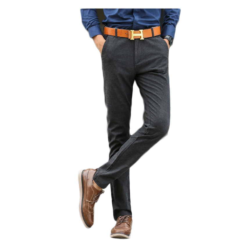 Free shipping 2017 Hot selling Men Casual Pants Autumn Overall Plus Size 28-38 Blue Black Pants Fitness Pocket Trousers 65z