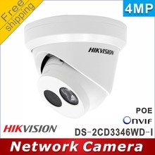 Free shipping Hikvision 4MP DS-2CD3346WD-I replaced DS-2CD2345FWD-I array 30m ip camera network dome camera security CCTV P2P(China)