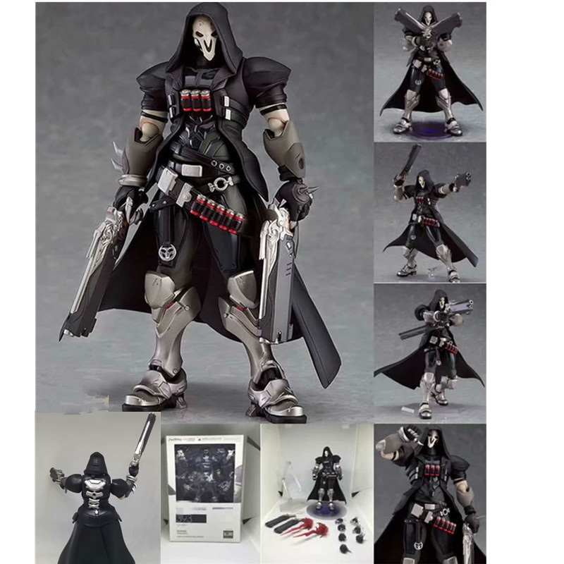 Figma 393 Overwatches Reaper Action Figure Series PVC Action Figure Collectible Model Toys Doll Gift 17cm image
