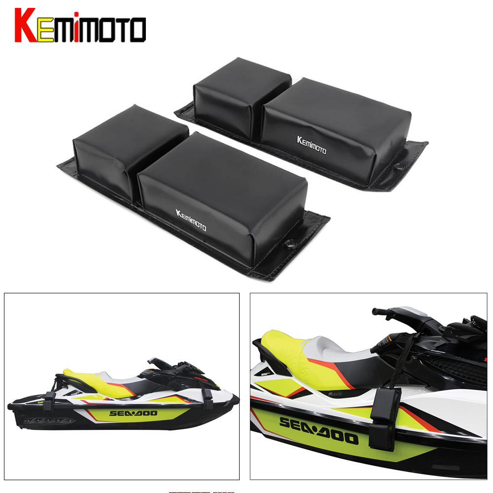 KEMiMOTO 2 Pcs Universal Mooring Protection Bumper Boat Fender For Jet Ski For Sea Doo For Yamaha Personal Watercraft PWC