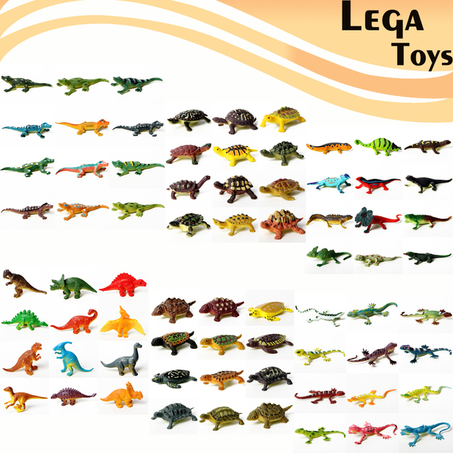 12 Pieces Educational Realistic Reptile Action Figures Play set with Dinosaur Lizards crocodile Turtle Perfect Party Model Toys