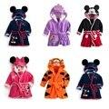 Children Print Gown Sale Boys Girls Clothing Robes Children Hooded Bathrobe Flannel Fleece Free Shipping Children Cartoon Gown