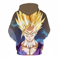 BIANYILONG 2018 New Super Saiyan Gold Gas Field 3D Print Hoodie Teen Personality Fashion Hoodie