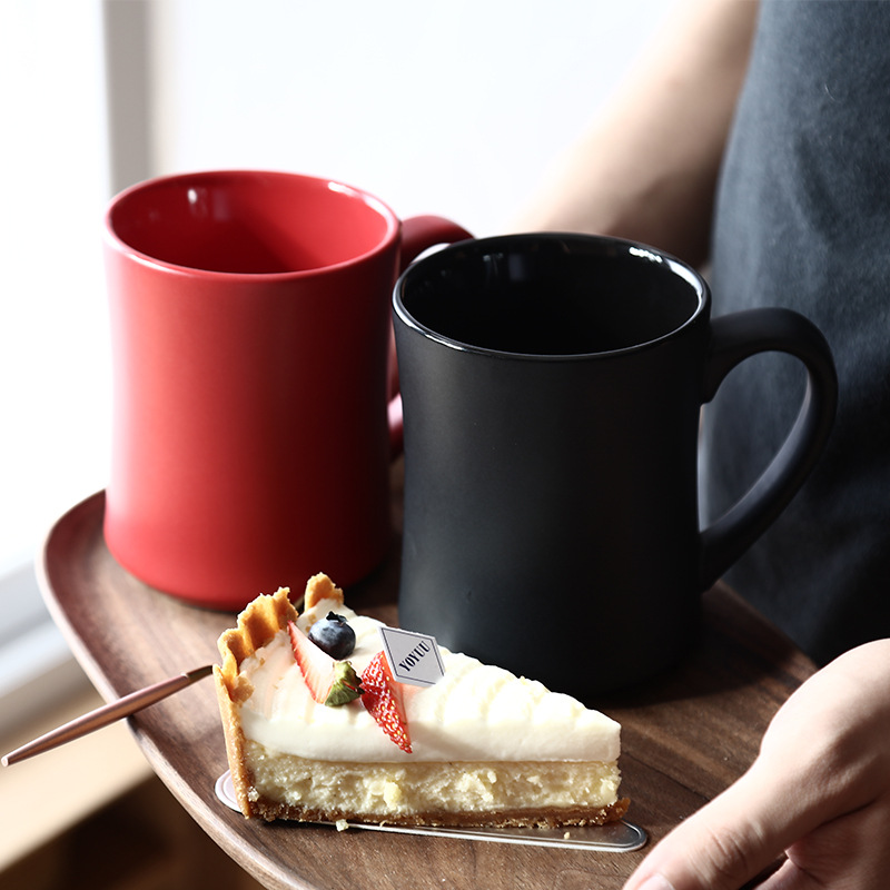 510ML Frosted Hot Water Mug coffee Cup Large Capacity Household Classic Nordic Breakfast Milk Tazas De Ceramica Creativas