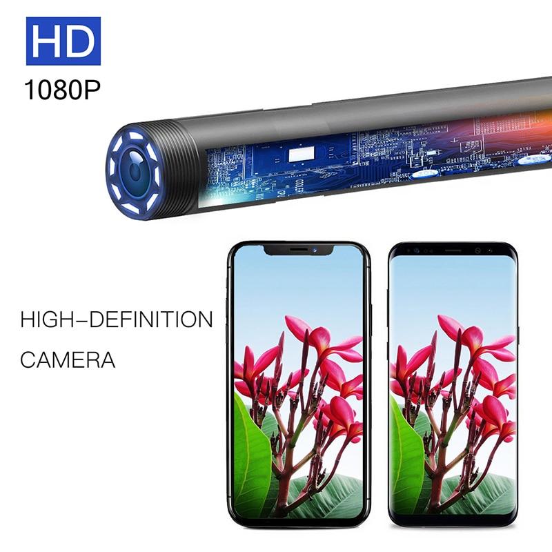 Trois-en-un visuel oreille cuillère Endoscope caméra lentille 5.5mm diamètre IP67 étanche 6 pièces lampes LED réglables 1.5 m câble 70 degrés