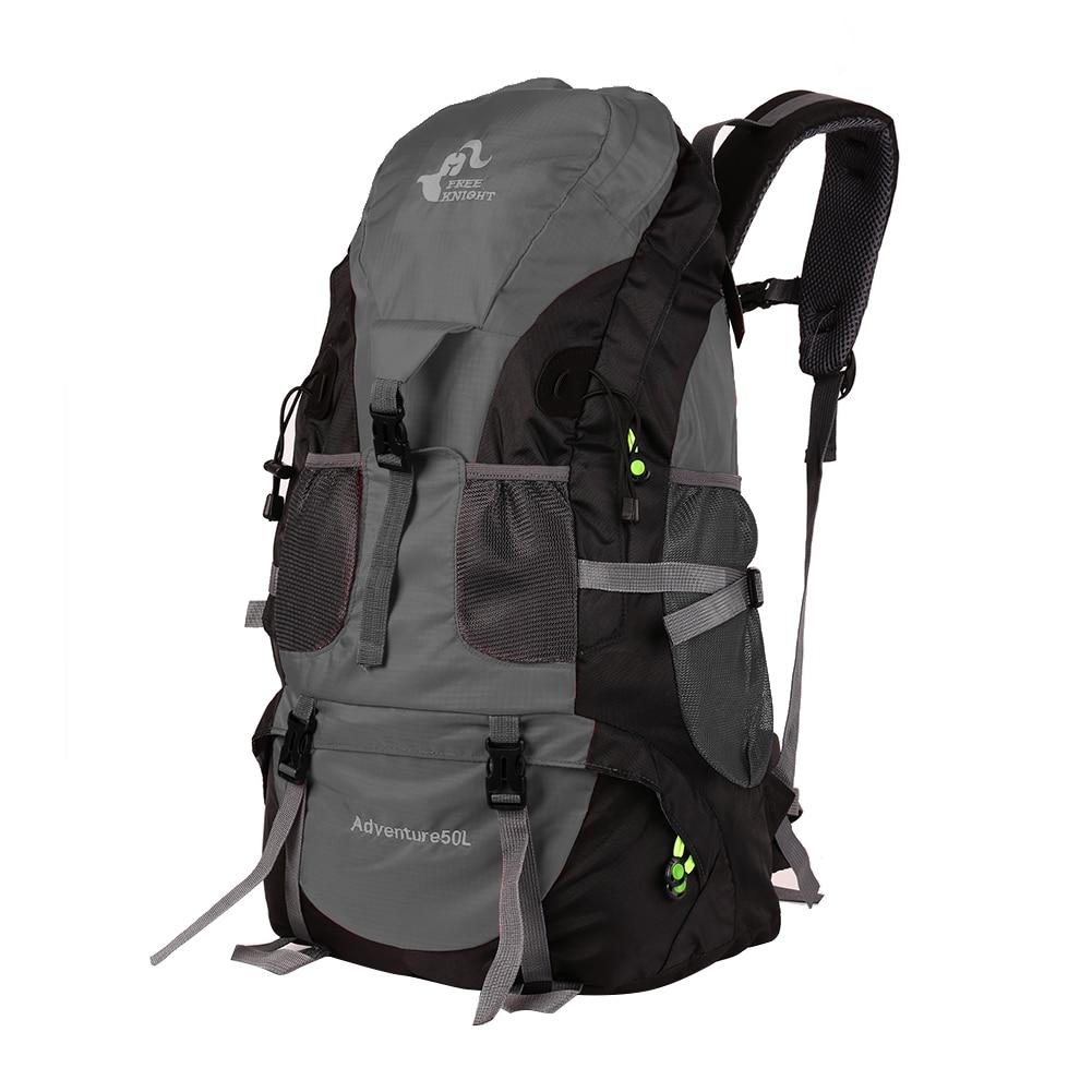 50L открытый рюкзак альпинистская горная походная бейсболка для езды и походов дорожная водонепроницаемая сумка мужской рюкзак; спортивная сумка - Цвет: Black
