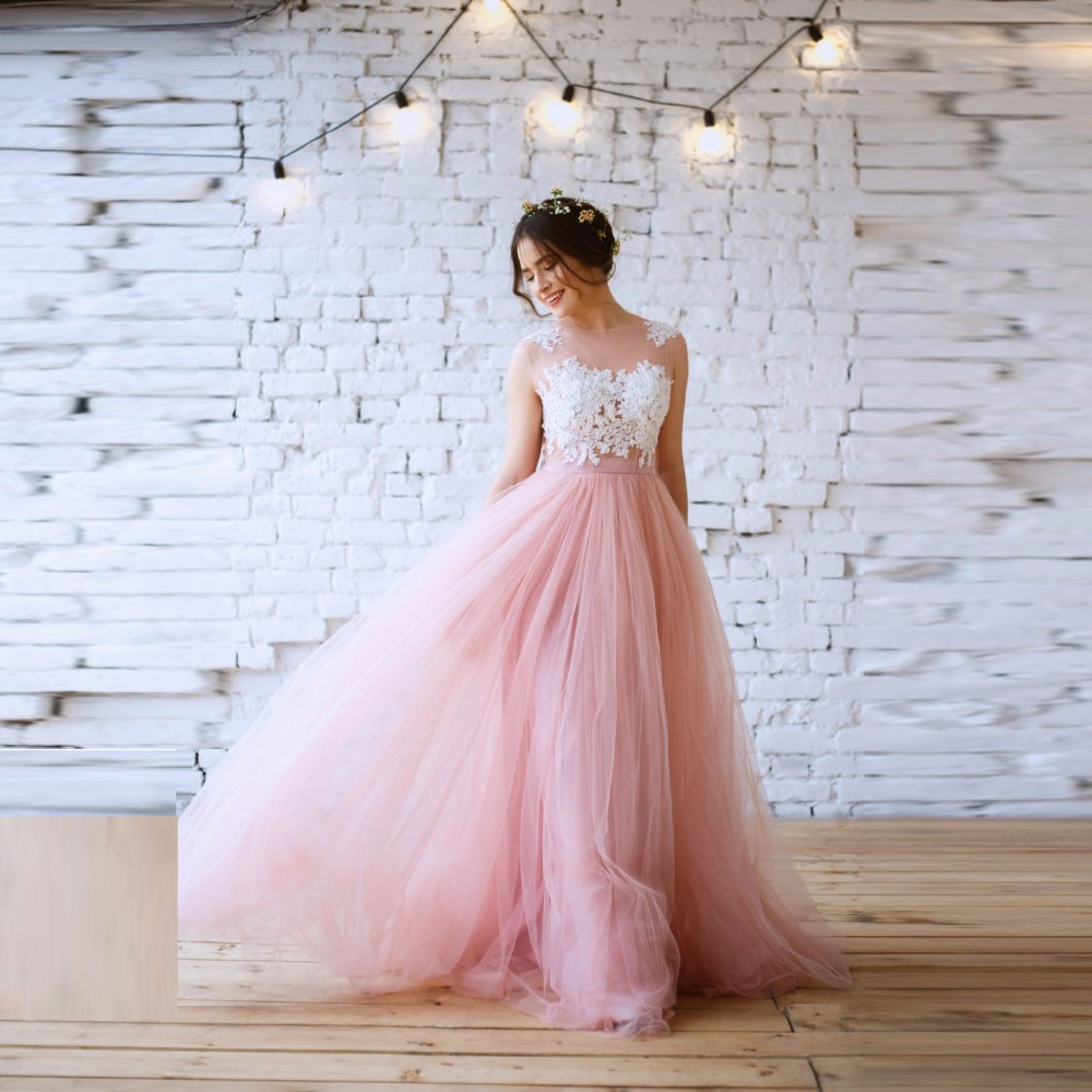 Pretty Blush Rosa Tanque Con Faldas de Tul de Encaje Blanco 2 piezas ...