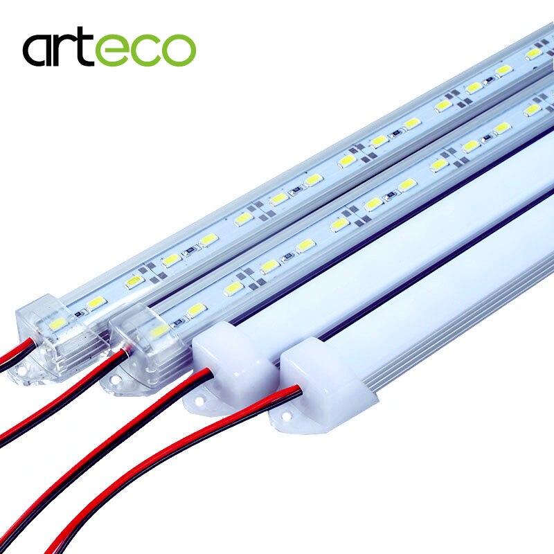 5PCS/Lot 50CM DC12V LED Bar Light 5730 5630 With PC Cover 5730 LED Hard Strip Light Kitchen Cabinet Light Wall Light