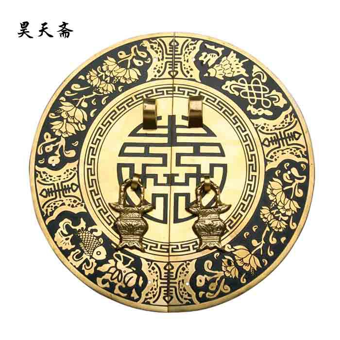 [Haotian vegetarian] Chinese antique furniture copper fittings copper cabinet drawer handle HTB-033 wholesale antique copper plug pin fittings chinese furniture