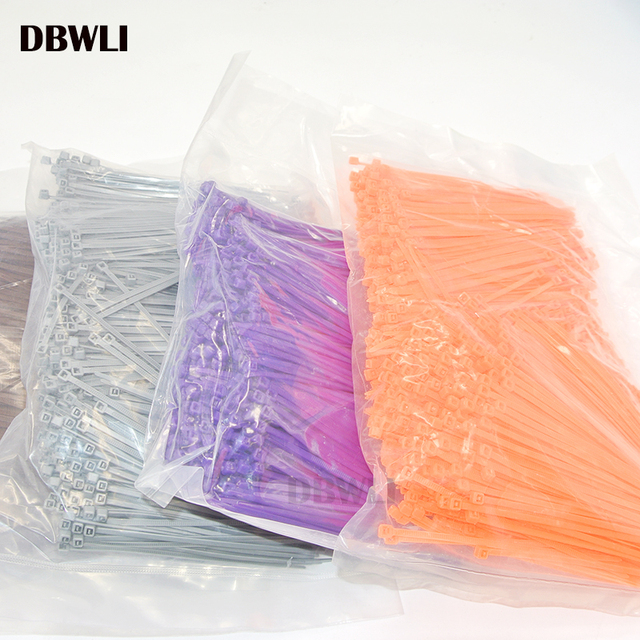 """wholesale 1000pcs  4"""" inch  2*100mm  black white blue Red Green orange purple Cable Wire Zip Ties  Self Locking Nylon Cable tie"""