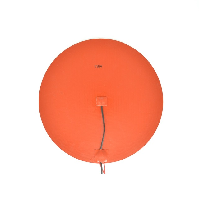 300mm Round 110V Silicone Rubber Heater Pad