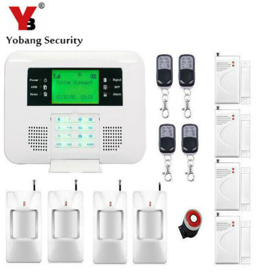 YobangSecurity Spanish Russian English Voice 433MHz Wireless GSM PSTN Home Alarm System PIR Detector Door Sensor Remote Control разговорник для англоговорящих english russian phrase book