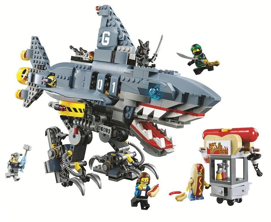2018 bela blocs ensemble briques 872 pièces Ninja Film Gamma requin transporteur compatible avec 70656 Jouets Pour Enfants