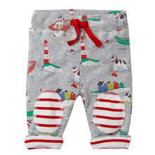 Beenira Children Animals Pants 2017 European And American Style Kids Straight Drawstring Long-Pants Boys Girls Cartoon Pants