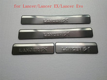 цена на stainless steel pedal bienvenidos Scuff Plate Door Sill for Mitsubishi Lancer/Lancer EX/Lancer Evo 2010-2018 Car styling