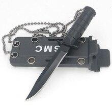 Портативное мини-ожерелье с лезвием Фруктовый нож для кемпинга на открытом воздухе для охоты, выживания, походов, Edc, карманная коробка для самозащиты, открывалка с буквами