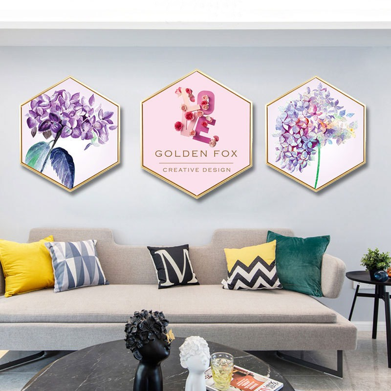 European INS Simulation Flower Home Bedroom Decorative Painting Sofa Background Wall Mural Restaurant Hotel Garden Wall Painting