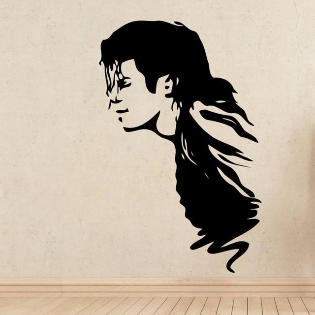 Michael Jackson Wall Stickers Super Star Music Decor Vinyl Decal Sticker Art Home Design