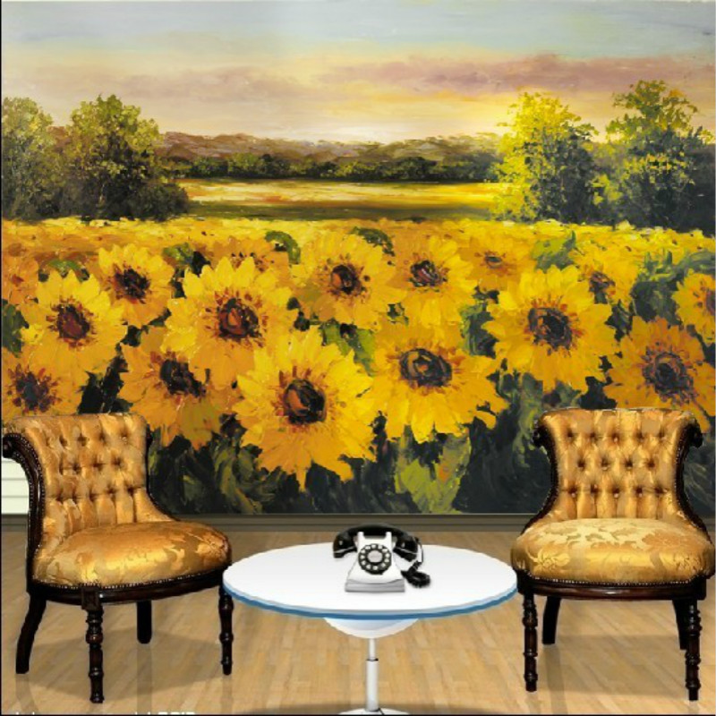 yellow sunflower wallpaper mural painting living room bedroom 3D wallpaper TV backdrop 3D wallpaper photo wallpapers brooklyn black and white wallpaper mural photo wallpaper 3d mural large wall painting mural backdrop stereoscopic wallpaper