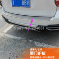 Stainless steel outer Rear Bumper Protector trim guard plate sill tread trim for Subaru Forester 2013 2014 fast air ship