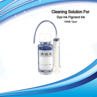 4 PK Pre Filled Cleaning Refillable Cartridges For Epson 127 100 Ml Printheads Cleaning Solution